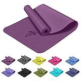 Baomay Tapis de Yoga : Epais 6mm Tapis de Sport Antidérapant (avec Sac), TPE EcoFriendly, Tapi de Pilates Fitness, Mat pour la Gymnastique, Musculation, Meditation, Training