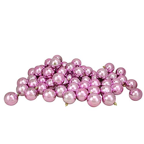 1642-60ct Bubblegum Pink Shatterproof Shiny Xmas Ball Ornaments 2.5' – QQ05