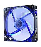 Nox Coolfan -NXCFAN120LBL- Ventilador Caja PC 120mm, 9 aspas traslúcidas, rodamientos lar...