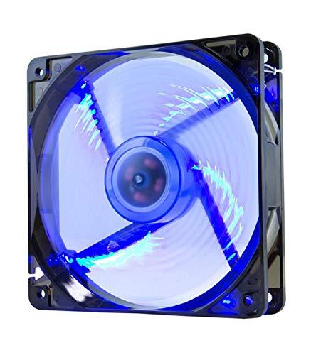 NOX XTREME PRODUCTS Coolfan -NXCFAN120LBL- Ventilador Caja PC 120mm, 9 aspas traslúcidas, rodamientos larga duración, 4 LEDs, silencioso, conector 3 y 4 pines, color blue