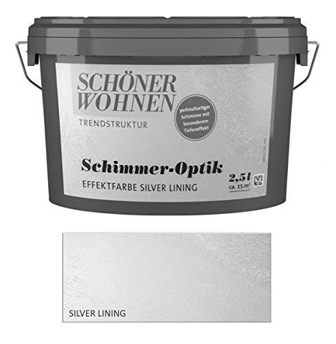 Schöner Wohnen 2,5 L. Schimmer-Optik Effektfarbe, perlmuttartiger Schimmer - Silber