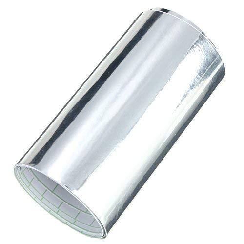 Alamor 10X152cm Autospiegel Chrom Silberfolie Folie Aufkleber Folien Blatt Auto Boot