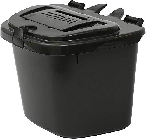 Extra large crème compost seau avec bac intérieur-cuisine compost caddy bin