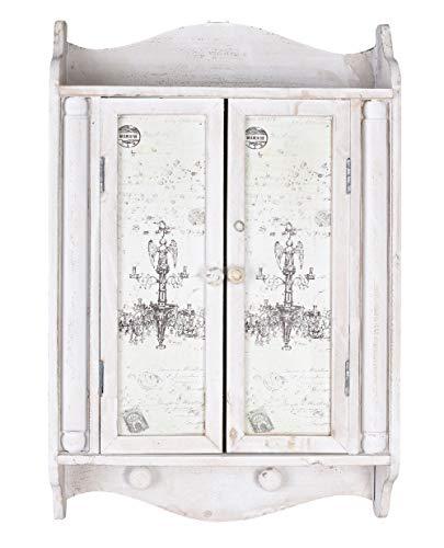 Wandschrank Shabby Chic Hängeschrank Wandschränkchen Weiss Vintage sod024 Palazzo Exklusiv