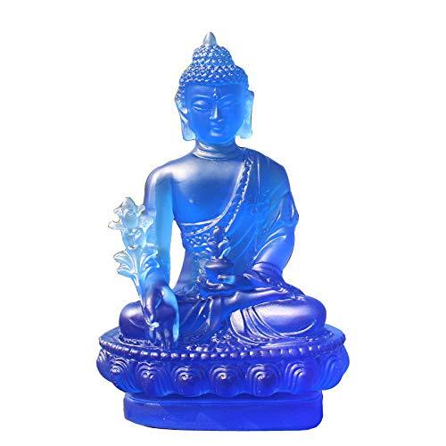 YANJHJY Buda Estatua Escultura, Resina Artesanía Accesorios de decoración del hogar Buda Disfraz Adornos Decoración del Coche