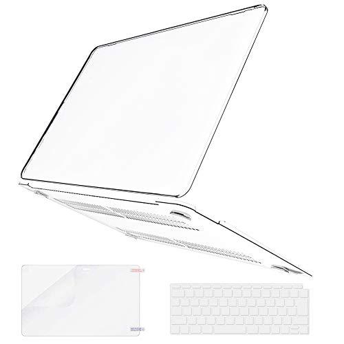 Belk MacBook Air 13 ケース 2021 2020 2019 2018 モデル: M1 A2337/A2179/A1932 [キーボードカバー+液晶保護フィルム+MacBook Air13 retina タッチ ID搭載 カバー] MacBook Air ケース 2020 (クリア)