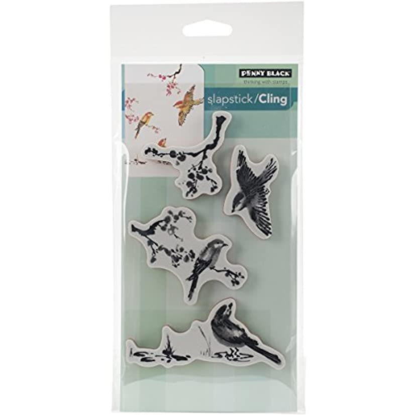 Penny Black PB40376 Winged Beauty Cling Rubber Stamp Sheet, 5 x 6.5