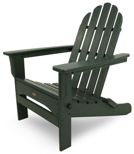 Trex Outdoor Furniture Cape Cod Folding Adirondack Chair, Rainforest Canopy