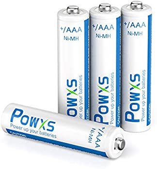 4-Pack POWXS AAA Rechargeable Ni-MH Batteries