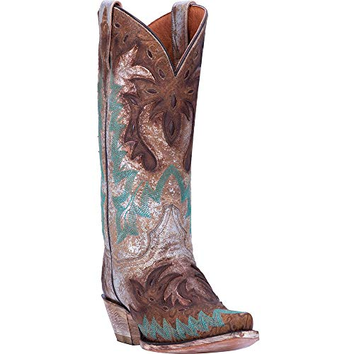 Dan Post Women's All Eyes On Me Metallic Western Boot Snip Toe Brown 9 D