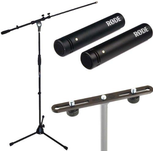 Rode M5 MP Set de micrófono + K&M Stereo Bar 23550 + soporte para micrófono Keepdrum MS107B