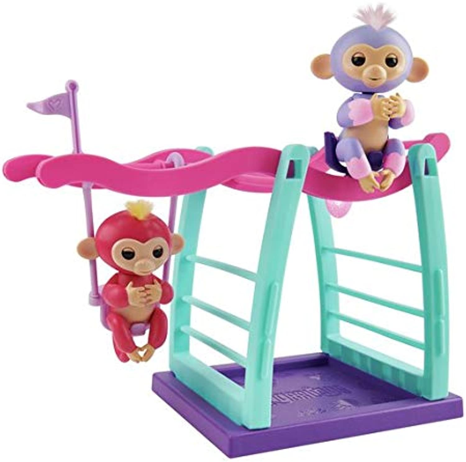 WowWee Fingerlings Monkey Playset with Two Monkey's