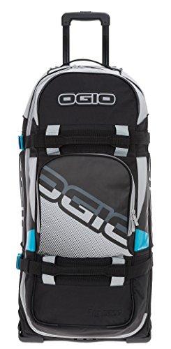 Reisetrolley Ogio Rig 9800 Rolltasche Reisetasche mit Rollen Trolly 120 L + TSA Schloß (Teal Block (Grau Blau))