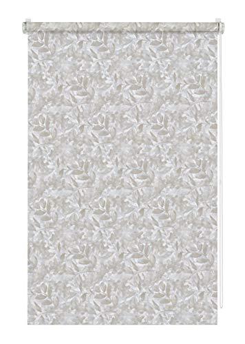 GARDINIA EASYFIX Rollo Dekor zum Klemmen, Blickdicht, Alle Montage-Teile inklusive, Natural Camouflage, Hellgrau/Taupe, 60 x 150 cm (BxH)