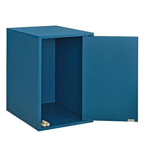 [en.casa] Armario con Puerta de diseño Combinado - Sistema de estantería de Pared con Puerta - 30x45x40 cm - Turquesa