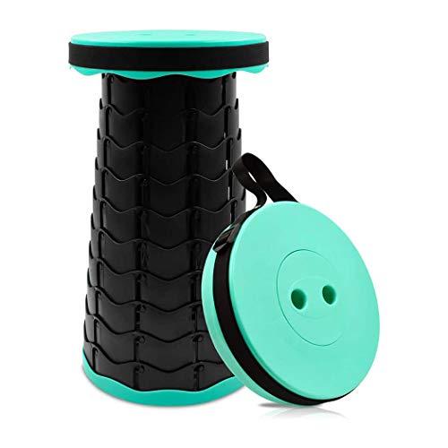 M STAR Silla de camping telescópica ligera y plegable, asiento de camping para barbacoa, senderismo, viajes, pesca, puede cargar 150 kg