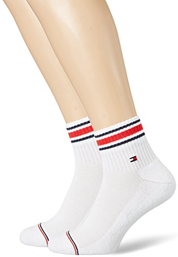 Tommy Hilfiger Herren TH Iconic Sports Quarter 2P Socken (2er pack),Weiß (white 300),43/46 EU