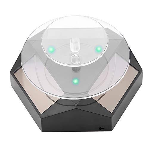 Rotierenden Schmuck Display, 360 drehen, Solar Power Showcase, LED-Licht Plattenspieler, Watch Phone Schmuck Ring Display Stand (01#)