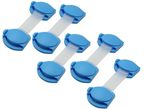 JUNGEN 6x Verrou/Serrures adhésives de sécurité bolque armoire tiroirs (couleur aléatoire)