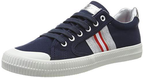 Replay Extra, Zapatillas para Mujer, Azul (Navy Silver 270), 36 EU