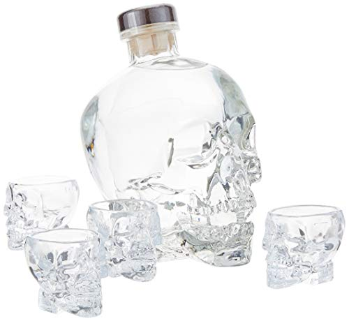 Crystal Head Vodka 40% Vol. 0,7 l + GB mit 4 Shotgläsern
