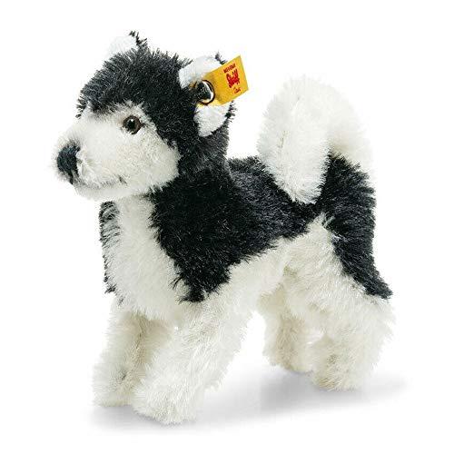 Steiff 026683 Wildlife Giftbox Husky schwarz/weiß 11 cm Mohair