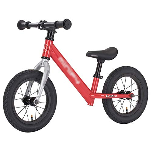 Buy Bargain ZEFENG Folding Bikes Children's Balance Car Non-Pedal Slide Children's Toddler Scooter Competitive Car Rubber Wheel (Color : Red, Size : 12inch) (Color : Red, Size : 12inch)