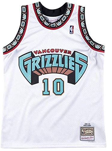 Mitchell & Ness Vancouver Grizzlies Mike Bibby 1998 Home Swingman Jersey (Small)