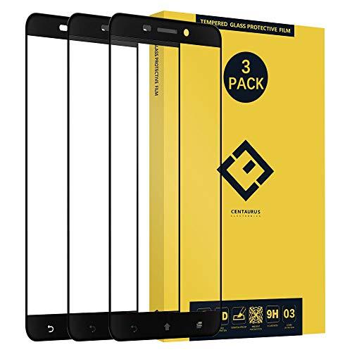 Asus ZenFone 3 Laserglas Displayschutzfolie transparent Anti Fingerabdruck ultradunn 9H volle Abdeckung seidenmatt Schwarz fur Asus ZenFone 3 Laser ZC551KL Z01BDC Z01BDB Z01BDA
