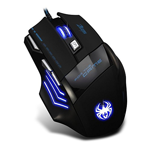 Zelotes 7200 DPI 7 Buttons Professional LED Optical USB Wired Gaming Mouse Mice for Gamer