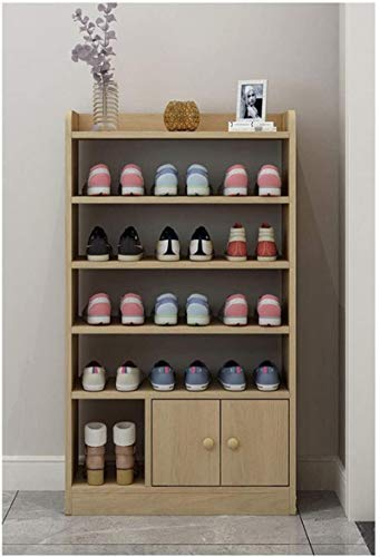 Ranuras de zapato ajustables Organizador Bastidore Zapato zapato zapato de madera, equipo de zapatos grande, estante de zapatos de ahorro de espacio, gabinete de almacenamiento de zapatos para entrada