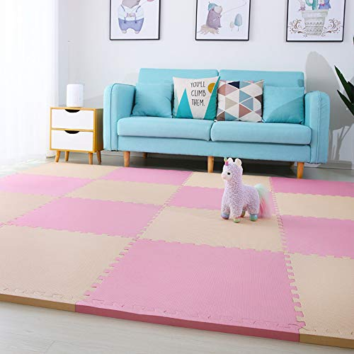 Fantastic Deal! GHGMM Rug Crawling Mat Play Mat, Non-Slip Moisture Proof Foam Splice Crawling mat, B...