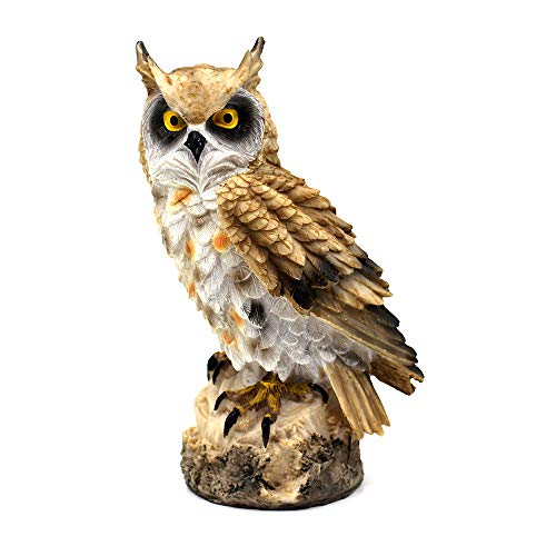 Statua di Gufo Ornamento Animale Decorazione del Giardino / Decorazione Domestica Resina ,Giallo