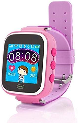 Lemumu Système de positionnement global pour éviter enfant disparu Smart Phone Watch,Rouge Rose
