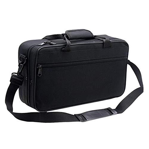 Harilla 600D Resistente al Agua Gig Bag Box Oxford Cloth para Clarinete de Concierto con Bolsillo Ajustable de Correa de Hombro Acolchado de algodón