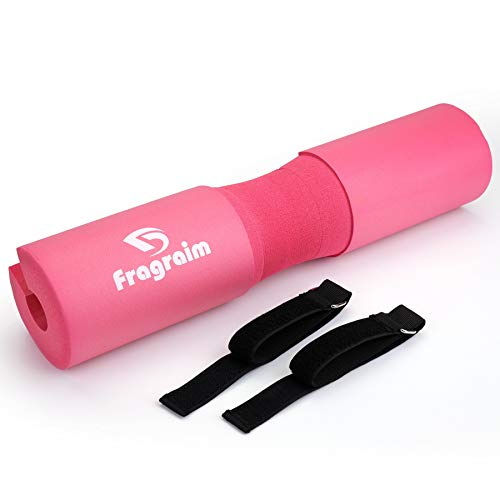 Fragraim Squat Pad, Barbell Pad, Foam Sponge Pad, Squat Bar Neck Pad, Training Weightlifting Cushion Women & Men for Lunges, Squats and Hip Thrusts (Pink)