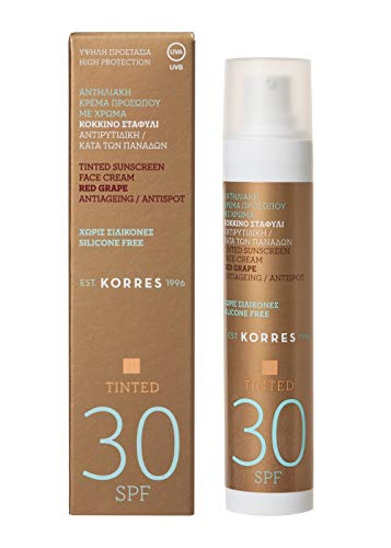 Korres RED GRAPE Anti-Ageing/ Anti-Spot getönte Sonnencreme SPF30, 1er Pack(1 x 218 g)