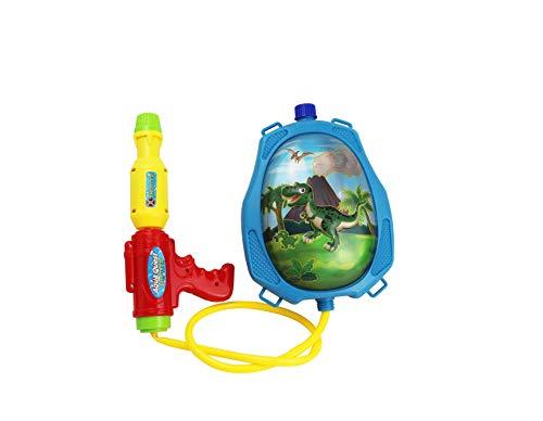 Wagtail Mochila Pistola de Agua ,Pistola de Agua para Niños Juego de Verano con Dibujo de Dinosaurio.