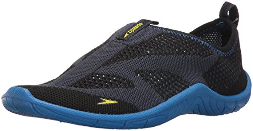 Speedo Surf Knit Athletic Water Shoe Skate, Navy/Blue, 5 D US Big Kid