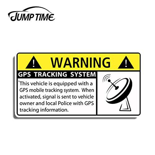 A/X Sticker de Carro 13 cm 6,6 cm Seguimiento GPS Antirrobo Sistema de Seguridad del vehículo Advertencia Etiqueta engomada del Coche Calcomanía Alarma Camión Motor Decoración Gráficos