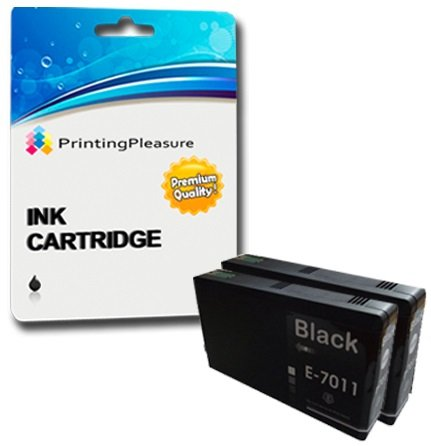 2 XXL NERO Cartucce d'inchiostro compatibili per Epson WorkForce Pro WP-4015DN, WP-4025, WP-4025DW, WP-4095DN, WP-4515DN, WP-4525DNF, WP-4535DWF, WP-4545DTWF, WP-4595DNF | T7011