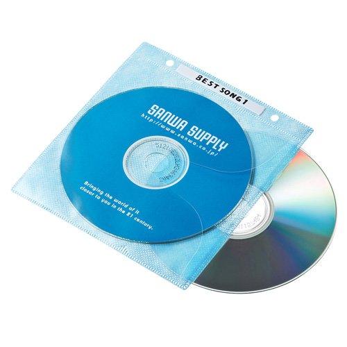 DVD・CD不織布ケース リング穴付き・100枚入り FCD-FR100