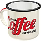 Nostalgic-Art 43203 Strong Coffee Served Here | Retro Vintage Geschenk-Tasse | Outdoor Geschirr...