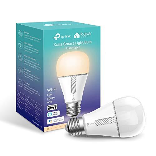TP-Link KL110 Lampadina Wi-Fi E27, 10 W, Funziona con Amazon Alexa e Google Home, 800 lumen, Bianco Dimmerabile dall' 1% al 100%, 2700 K, Controllo da remoto