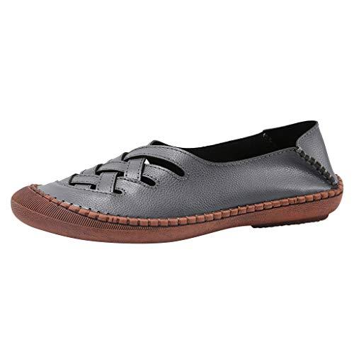 Soolike Zapatillas Unisex Adulto Zapatos Mujer Mocasines Invierno Comodos Ancho Especial