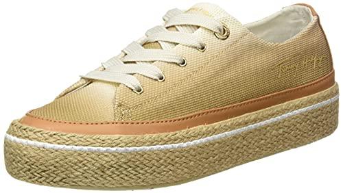 Tommy Hilfiger, Gradient Sunset Vulc Sneaker Mujer, Paloma Blanca, 38 EU