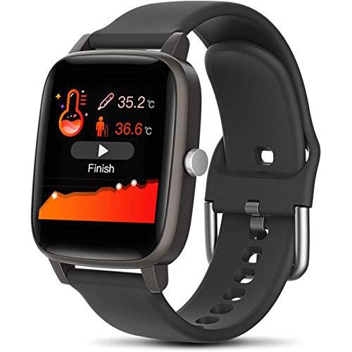 WM-MSMY Körper-Temperatur Smart Watch, Blutdruck Herzfrequenz-Messung Sport Smart-Pedometer-wasserdichte Uhr, für IOS Android,A