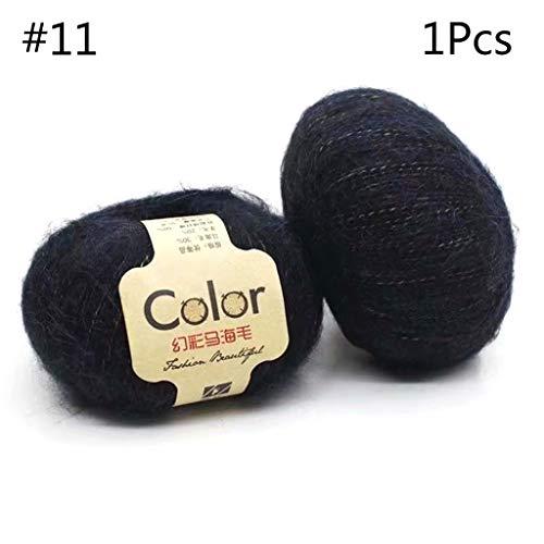 VIccoo 50g wol mohair wol Angolan handgemaakte DIY gehaakte trui sjaal lange pluche Fantasy draad breien garen - 8