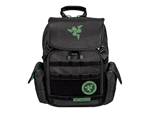 Mobile Edge Razer Tactical 15 Inch Laptop Gaming Backpack, Black, Rugged Ballistic Material, Padded Laptop Section, Tablet Pocket, Water-Resistant, RAZERBP15