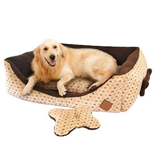Cama Perro Grande Cuadradas Sofá Cómodo Cojin Perro